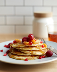 Gluten-Free Pancakes w/ Oat and Coconut Flours and Flax